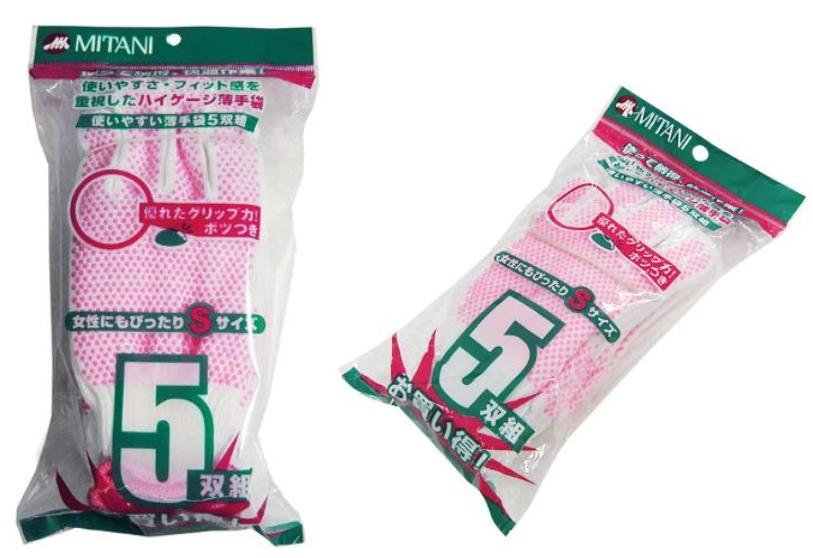 使いやすい薄手袋5双入60組すべり止めボツ付(300双)Sサイズ(女性用サイズ) イボ付10ゲージ軍手 ミタニコーポレーション