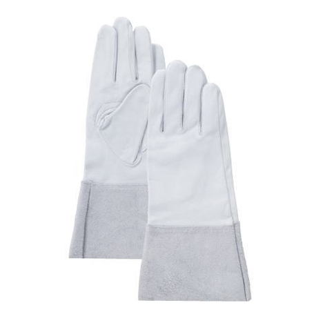 クレスト床袖 10双 卸売り アルゴン溶接用クレスト手袋 割引も実施中 牛皮クレストロング手袋 富士グローブ 溶接袖付グローブ