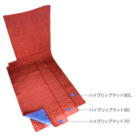 滑り止め 養生クッションマルチマット 2枚セット 90cm×180cm ハイグリップマット90 ノンスリップマット 国産 日本製 赤あて布団 フローリング 階段 廊下 養生 保護