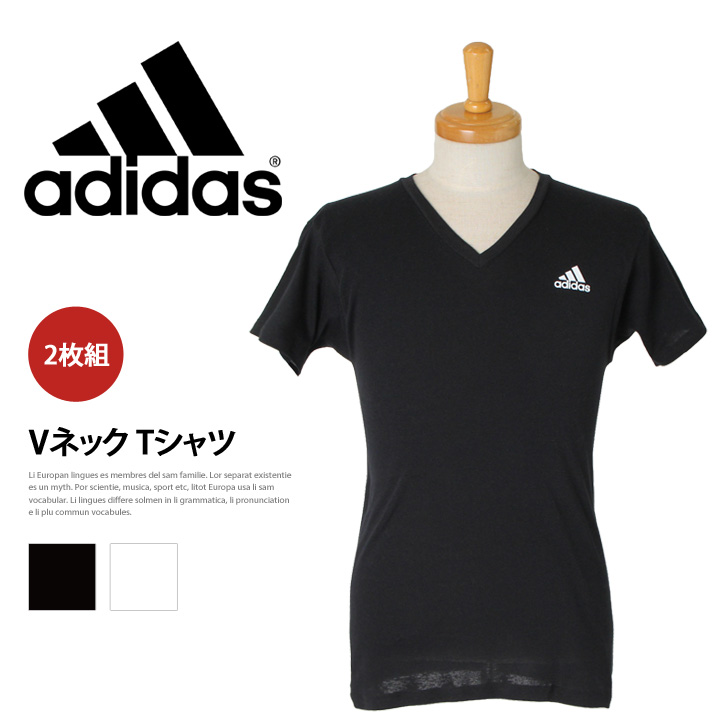 adidas v neck t shirt mens
