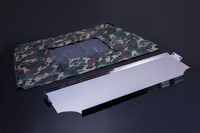 [ジムニー][JA11][SJ]JA/SJ系 幌車用 リアカーテン付き仕切りセット(迷彩Ver)[SMZ][シートメタルジップ]A6017 A6018
