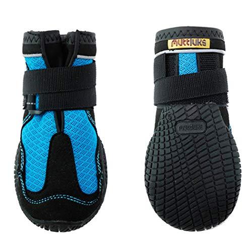 犬用靴 Mud 海外限定 Monsters マッドモンスターズ XS-S 3 期間限定お試し価格 ブルー 2個入り