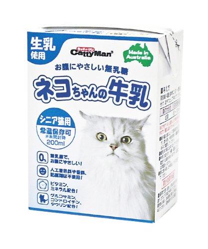 ついに入荷 キャティーマン CattyMan ネコちゃんの牛乳 200ml 売買 シニア猫用