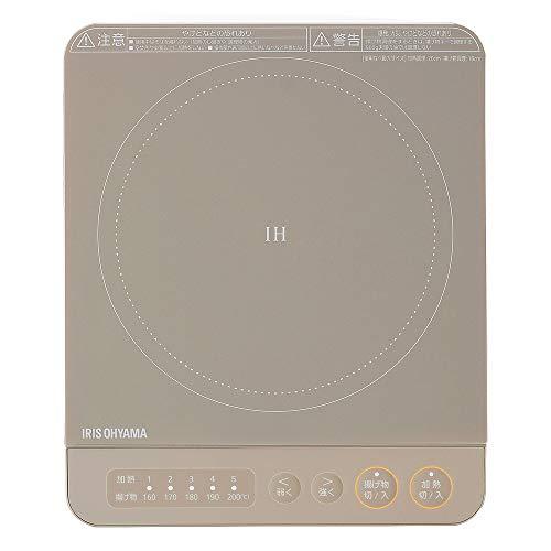 アイリスオーヤマ セットアップ IHコンロ 1000W 卓上 デザイン IHK-T38-T オリジナル ブラウン