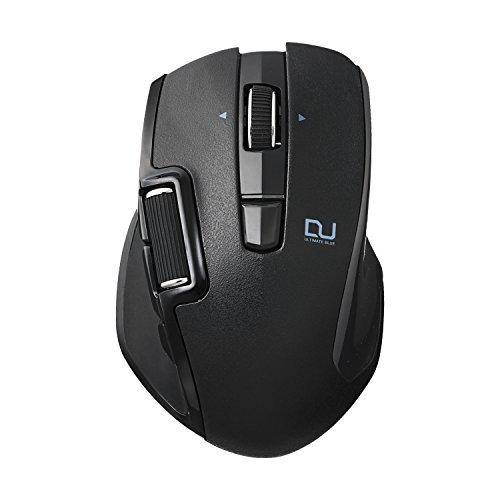 エレコム マウス ワイヤレス レシーバー�属 Mサイズ 6ボタン DUALシリーズ サイドホイール ハードウェアマクロ搭載 送料無料 ブラック Blueセンサー �速スクロール 購入 M-DWM01DBBK Ultimate