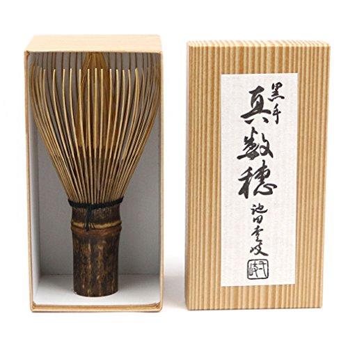 日本製 茶道具 茶筅 ついに入荷 通信販売 茶せん 黒竹 作 池田壹岐 真数穂 茶筅師