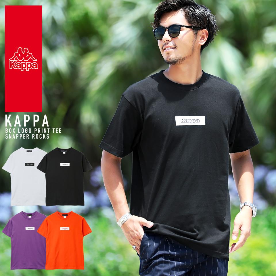 Kappa カッパ BOXロゴプリントTシャツ Tシャツ 特別セール品 半袖 メンズ プリントTEE カジュアル スポーツ BOXロゴTEE 通販 トップス カットソー ロゴ