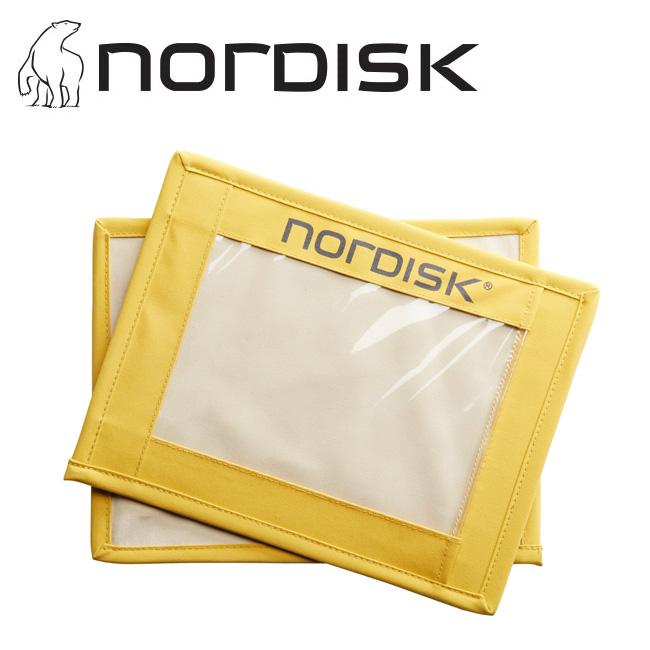 NORDISK ノルディスク Name Boards (2 Pieces) Mustard 148089 【ネームボード/テント雑貨/キャンプ/アウトドア】