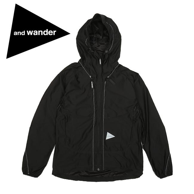 and wander アンドワンダー raschel rip jacket ラッセルリップジャケット AW93-JT056 【ジャケット/アウター/メンズ/アウトドア】