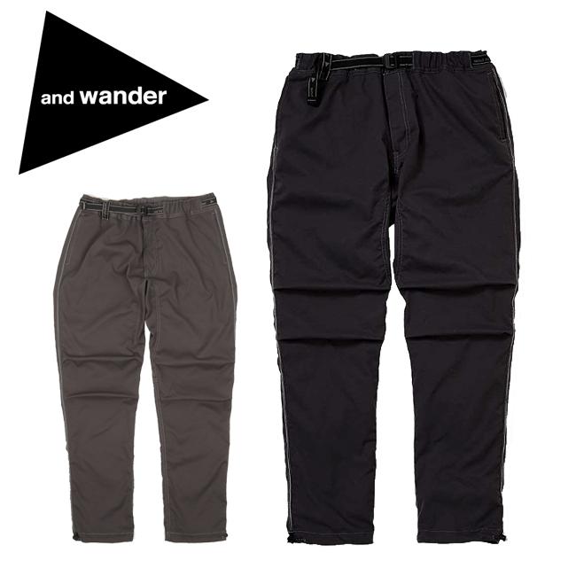 【服】 and wander アンドワンダー polyester climbing pants ポリエステルクライミングパンツ AW93-FF646 【ズボン/アウトドア/おしゃれ/登山】