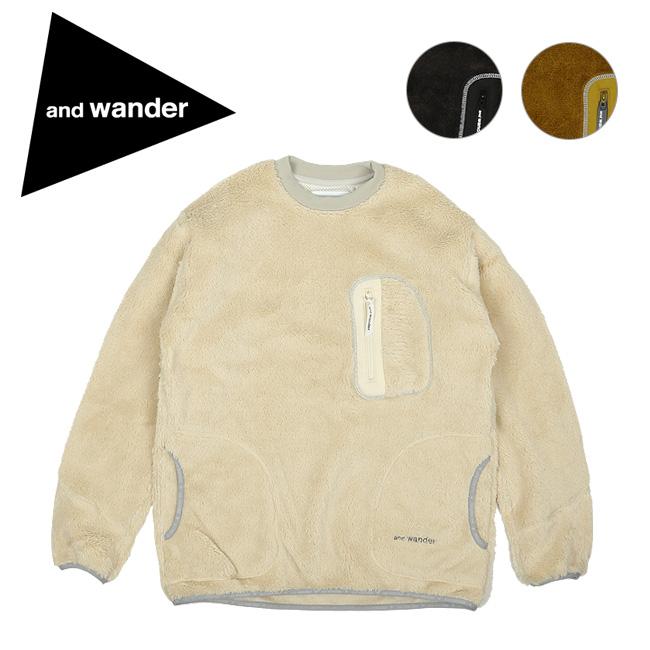 and wander アンドワンダー high loft fleece pullover ハイロフトフリースプルオーバー AW93-JT093 【トップス/メンズ/軽量/おしゃれ/アウトドア】