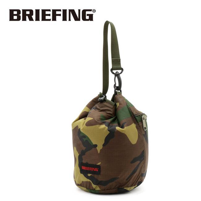 BRIEFING ブリーフィング 2WAY DRAWSTRING POUCH ドロースターイングポーチ BEIGE BRL193L29 【アウトドア/ワーク/鞄/肩掛け/筒形/リバーシブル】
