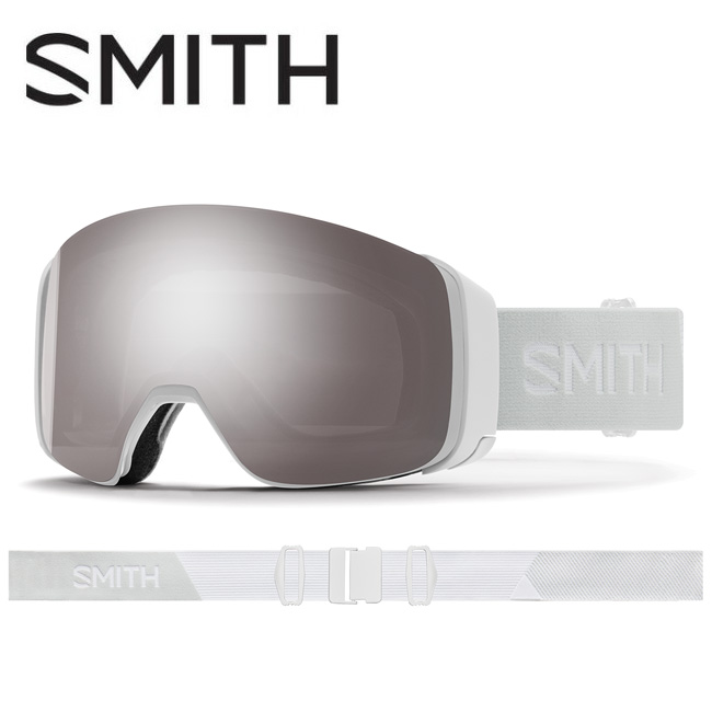 2020 スミス SMITH OPTICS 4D MAG White Vapor CP Sun Platinum Mirror / CP Storm Rose Flash 010260011 【ゴーグル/日本正規品/ジャパンフィット/アジアンフィット】