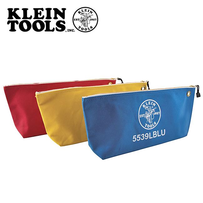 KLEIN TOOLS クラインツールズ Canvas Bags with Zipper Large Assorted Colors 3Pack キャンバスジッパーバッグアソートカラー 5539LCPAK 【アウトドア/キャンプ/収納/仕事】