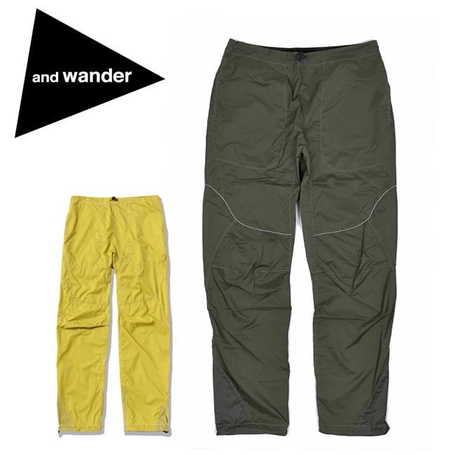 and wander アンドワンダー W weave windy pants ダブルウィーブウィンディパンツ 574-0122001 【アウトドア/ズボン/ロング】