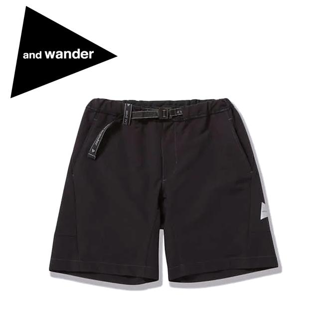 and wander アンドワンダー 2way stretch short pants 2ウェイストレッチショートパンツ 574-0152010 【アウトドア/半ズボン/短パン】