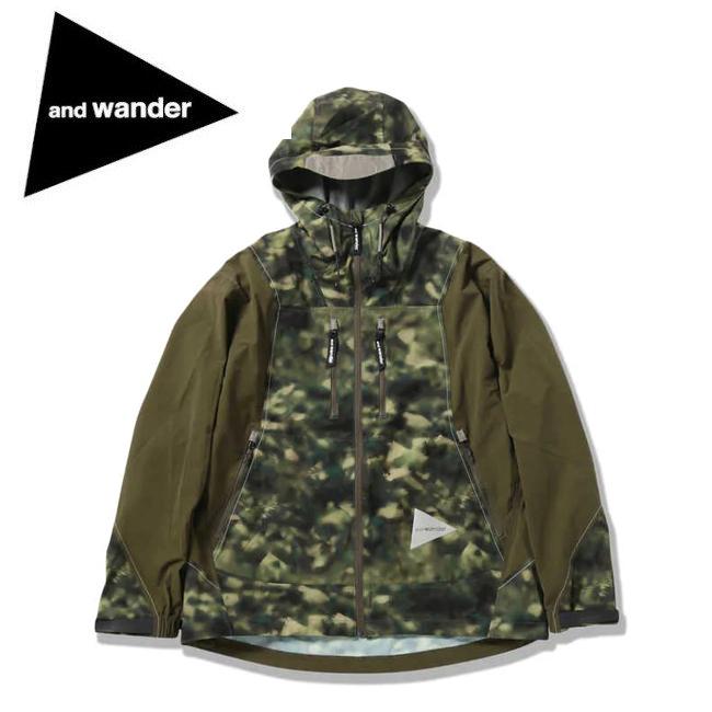 and wander アンドワンダー printed UV shield jacket プリントユーブイシールドジャケット 574-0121004 【アウトドア/フード/アウター/パーカー】