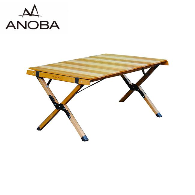 ANOBA アノバ ウッドロールトップテーブル AN005 【ツートンカラー/インテリア/アウトドア/キャンプ】