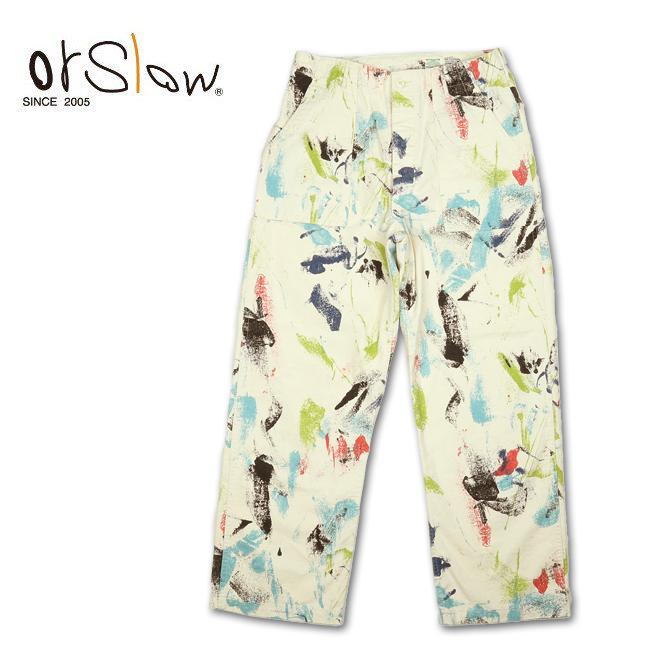 Orslow オアスロウ UNISEX SUMMER WIDE FATIGUE PANTS PRINT サマーワイドファティーグパンツプリント 03-5012 【ユニセックス/ボトムス/アウトドア】
