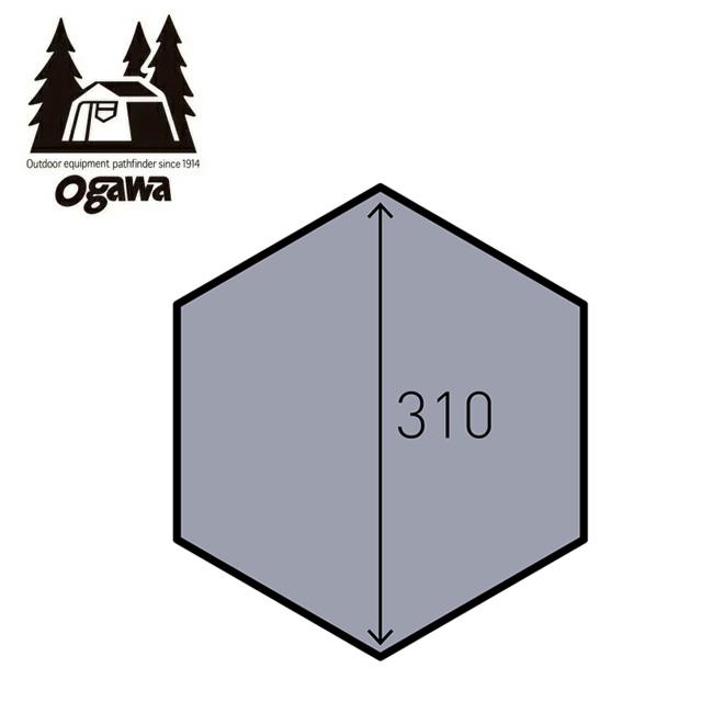 CAMPAL JAPAN キャンパルジャパン PVCマルチシート ツインピルツフォークフルインナー用 1428 【テント/キャンプ/アウトドア】