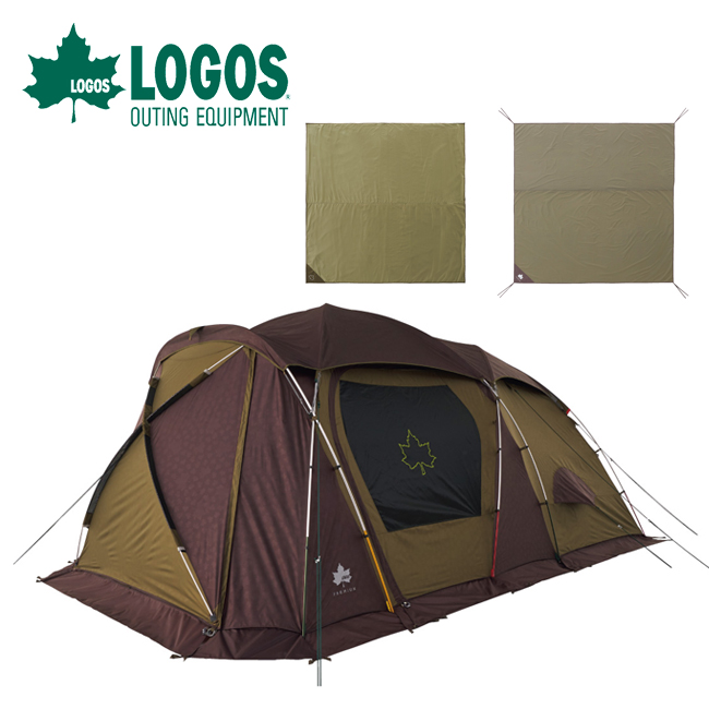 LOGOS ロゴス テントチャレンジセットプレミアム PANELグレートドゥーブル XL-BJ 71809558 【テント/防水マット/グランドシート/キャンプ/アウトドア】