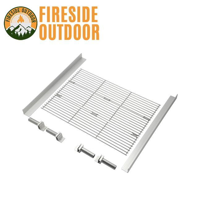 Fireside Outdoor ファイアーサイドアウトドア トライフォールドバーベキューグリルキット 15201 【ポップアップピット専用/焚き火台/アウトドア/キャンプ】