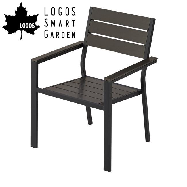 【メーカーお取り寄せ】【代引き不可】ロゴス LOGOS LOGOS Smart Garden モノウッドスタックチェア 73200012 【LG-CHER】