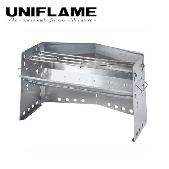 ユニフレーム UNIFLAME 薪グリル ラージ 682920 【BBQ】【GLIL】 グリル アウトドア キャンプ BBQ 万能グリル 網焼き 鉄板焼き