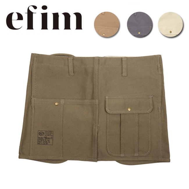 efim エフィム エプロン Waist Apron 2004004 【ZAKK】キャンプ DIY ガーデニング:SNB-SHOP