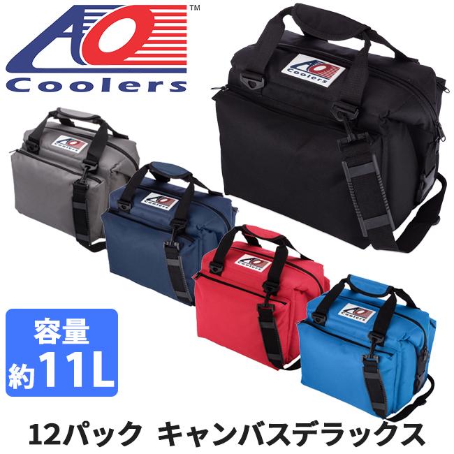 AO Coolers エーオー クーラーズ クーラーバック 12パックキャンバスデラックス AO12DXBK/CH/NB/RD/RB 【ZAKK】クーラーボックス 保冷バック アウトドア キャンプ