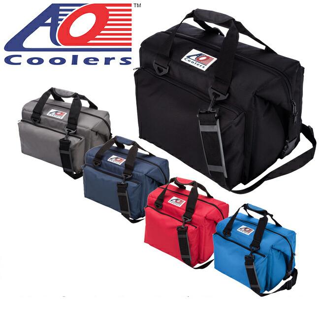 AO Coolers エーオー クーラーズ クーラーバック 24パックキャンバスデラックス AO24DXBK/CH/NB/RD/RB 【ZAKK】クーラーボックス 保冷バック アウトドア キャンプ