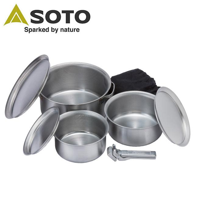 SOTO/ソト ステンレスヘビーポット GORA(ゴーラ) ST-950【BBQ】【COOK】新富士バーナー アウトドア キャンプ BBQ