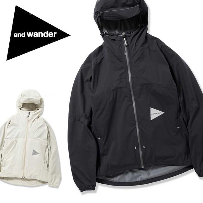 アンドワンダー and wander ジャケット Light rain jacket 3 AW-FT625 【服】撥水性 耐水性 メンズ 軽量