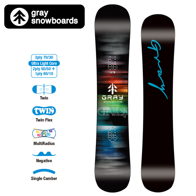 GRAY SNOWBOARDS グレイ スノーボード GENIUS ジーニアス 【2019/日本正規品/スノー】