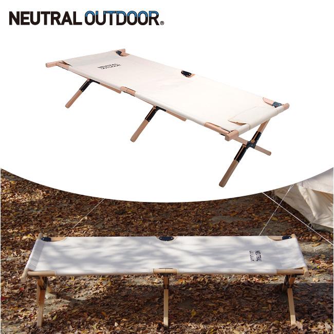 NEUTRAL OUTDOOR ニュートラルアウトドア Wood Bed ウッドベッド NT-WB01 36310 【ベッド/天然木/アウトドア/折りたたみ/キャンプ】