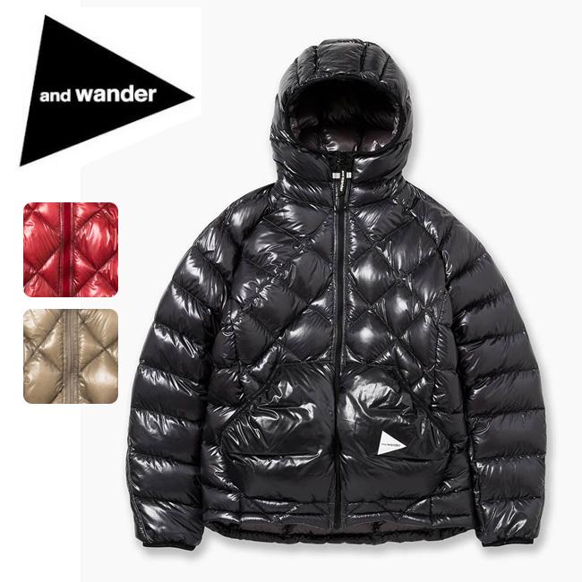 アンドワンダー and wander diamond stitch down jacket AW83-FT641 【アウトドア/アウター/ジャケット/トップス】