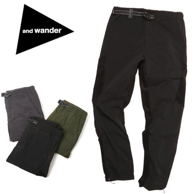 アンドワンダー and wander fleece base pants AW83-JF645 【アウトドア/パンツ】