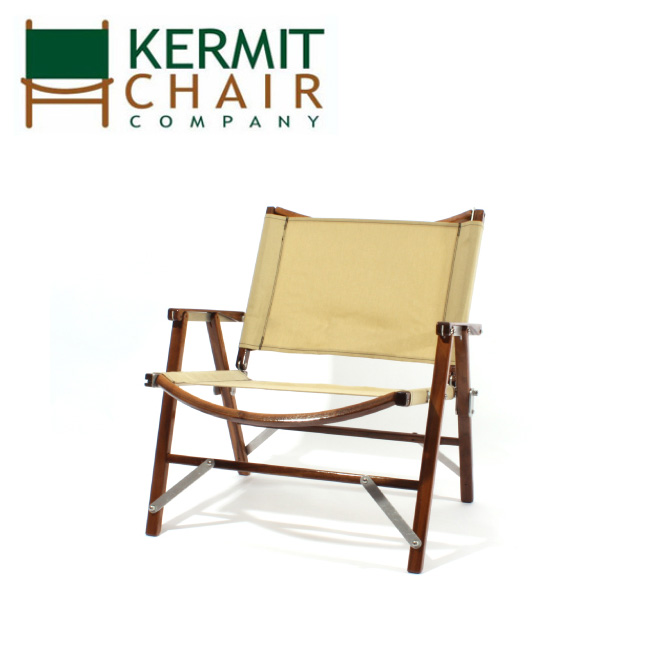 【スマホエントリでP10倍確定!12日 10時~】kermit chair カーミットチェアー Kermit Wide Chair WALNUT BEIGE KCC-406 【日本正規品/アウトドア/BBQ/椅子/チェアー】