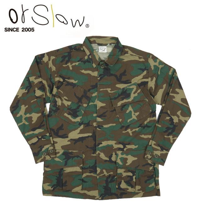 Orslow オアスロウ US ARMY TROPICAL COAT Woodland Camouflage 03-6010RIP-WLC 【アウトドア/アウター/ジャケット/メンズ/薄手】
