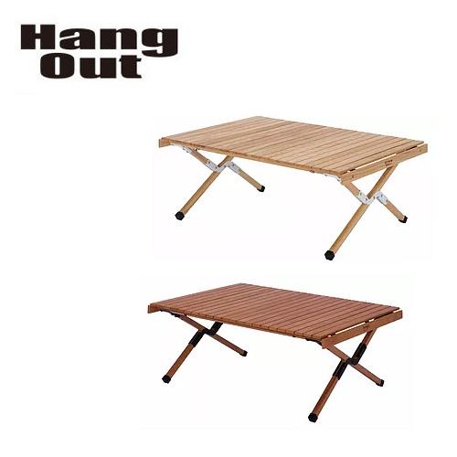 Hang Out ハングアウト Apero Wood Table アペロ ウッドテーブル APR-H400 【アウトドア/キャンプ/机/天然木/ロールアップ】