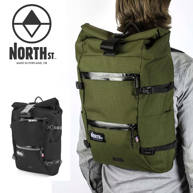 North St. Bags ノースストリートバッグス Flanders Backpack 【バックパック/バッグ/バック/ロールトップ/アウトドア】