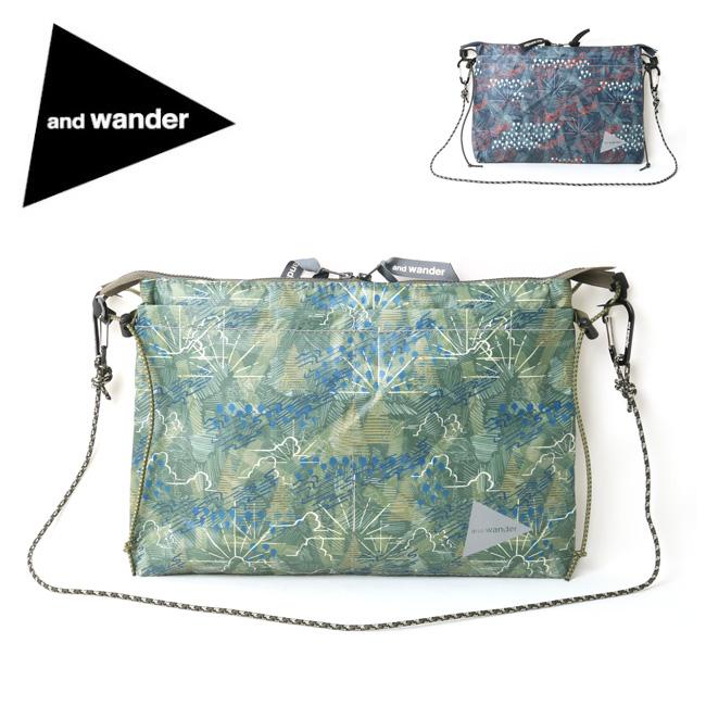 and wander アンドワンダー printed sacoche AW91-AA091 【アウトドア/サコッシュ/カバン】