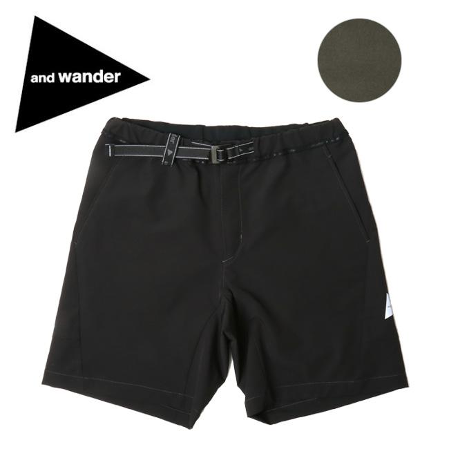 【月間優良ショップ受賞】アンドワンダー and wander 2way stretch short pants AW91-FF032 【アウトドア/パンツ/ズボン/おしゃれ】