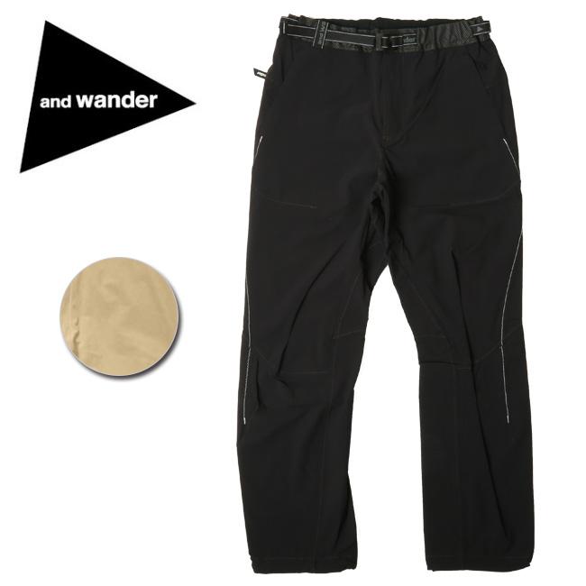 【服】 and wander アンドワンダー nylon stretch pants AW91-FF044 【アウトドア/パンツ/ズボン/おしゃれ】