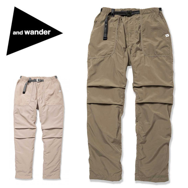 アンドワンダー and wander nylon climbing pants AW91-FF744 【アウトドア/パンツ/ズボン/おしゃれ】