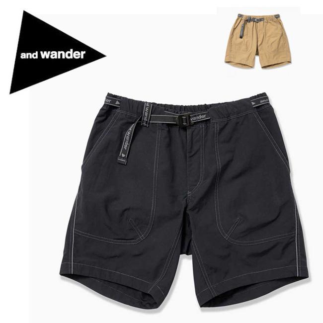 and wander アンドワンダー nylon taffeta short pants AW91-FF071 【ショートパンツ/ズボン/アウトドア/おしゃれ】