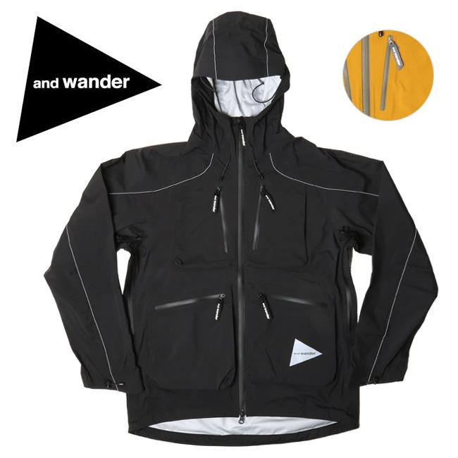 and wander アンドワンダー e vent dropping pocket rain jacket AW91-FT001 【アウトドア/ジャケット/アウター】