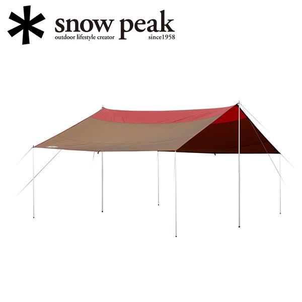 スノーピーク (snow peak) タープ *雪峰祭限定*クラシックタープ レクタL FES-102/グレー×エンジ 【SP-TARP】