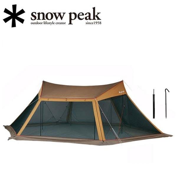 スノーピーク (snow peak) テント/シェルター/カヤード セット(アルミペグ、ロープ、スチールポール 付属)/TP-400S 【SP-TARP】