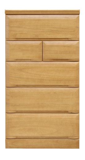【送料無料】 日本製 チェスト 【幅60 ナチュラル ブラウン 5段 木製 桐 桐タンス 収納 衣類 完成品】